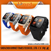 Hnet Android 4.2 OS 3G GPS WIFI Bluetooth mobile phone watch 4g with Heart Rate Monitor