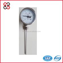 Radial type bimetallic thermometer