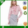 el trabajo a mano diseños blusa y falda uniforme para la oficina