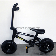 Extreme sports, portable bicycle, 10inch black mini bike, great riding experience
