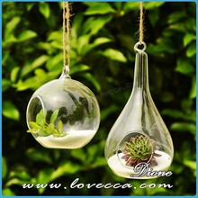 Hot!!! European style hanging glass terrarium hanging teardrop shaped glass vase different types glass vase