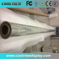 High quality holographic screen film self adhesive transparent rear projection film water adhesive