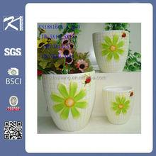 xiamen cheap small garden decoration ceramic flower pot for garden