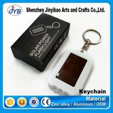 promotional wholesale cheap price plastic custom logo solar led keychain