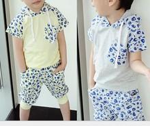 D80278F 2015 newest cheap boy's clothing suit set