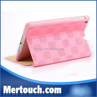 Portable High Quality Roseo Coloful Grid Flip Stand cover Foldable Book Style Leather PU case for iPad mini 1 2 3