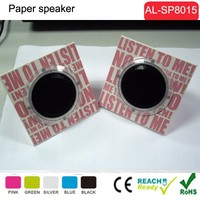 2015 hot selling foldable paper speaker,cardboard foldable speaker for promotional gift paper box speaker