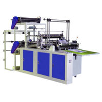 two 2 layers sealing and cutting bag making machine