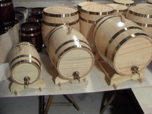 2/3/5L red wine storage wooden barrel with metal tap