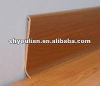 Rigid Wood Grain PVC Plastic Skirting Board E80