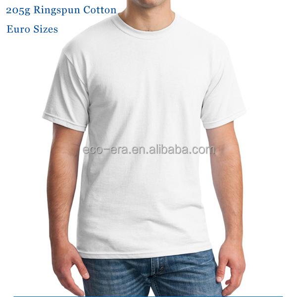 Wholesale free shipping euro size 205g 100 ringspun for 100 ringspun cotton t shirt wholesale