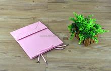Printed kraft paper bag for cosmetics / jewlery pink paper bag
