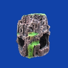 Custom Stone Style Decorative Resin Wood Cave Hole Fish Aquarium
