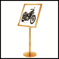 High quality golden stainless steels sign display stand-floor stand-sign board-POP poster board stands