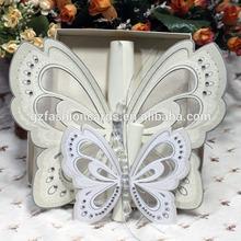 2014 real de forma de mariposa de invitación de boda de la tarjeta