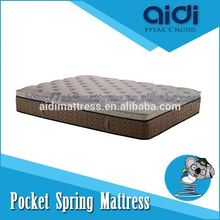 Malaysia Latex 5-Zone Pocket Spring Soft Foam Mattress For Dream Night AC-1404
