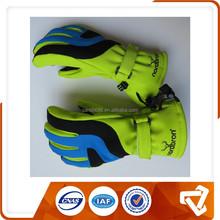 Yellow Ski Gloves