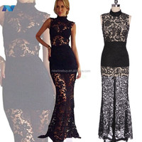 Fashion Sexy Womens Sleeveless Lace Long Party Cocktail Full Dress
