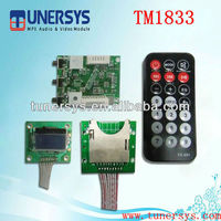 usb video player circuit TM1833 usb mp3 module from Tunersys