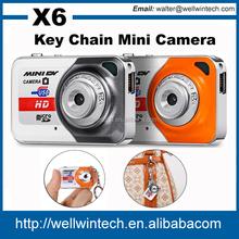 X6 Newest smallest Mini Camera High Definition 1280X960 Digital Video hidden keychain Camera