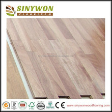90/120mm Smooth Kempas Solid Wood Flooring with T&G