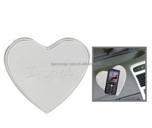 Heart Shaped Car Mat Anti-SlipSuper Sticky Pad for Phone / GPS/ MP4/ MP3