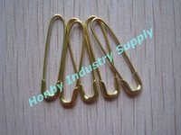 Nice brass U shaped safety pin in gold color for Craft