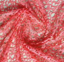 Solid Color/Pure Colour Nigeria Guipure Lace Dresses Cord Lace Fushia Pink Laces/Baby Lace Fabric