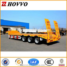 High strength hydraulic low bed trailer dimensions with 3 axles for transportation