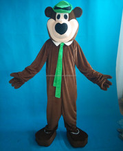 New Bear with hats costume adult yogi bear mascot costumes
