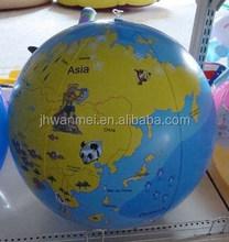 PVC inflatable transparent globe ball,globe,toy globe,no country name