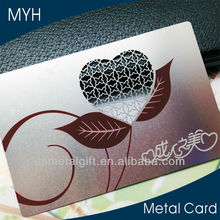 Shenzhen metal card manufacture supplies fashion design stainless steel metal business card with nfc business cards