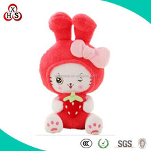 Wholesale Soft Hot Sale PLush Customed Alpaca Fur Cat For Kids Gift