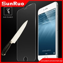 Professional manufacture 0.1mm/0.2mm/0.26mm/0.3mm Waterproof 9H Cell Phone tempered glass screen for iphone6 6+