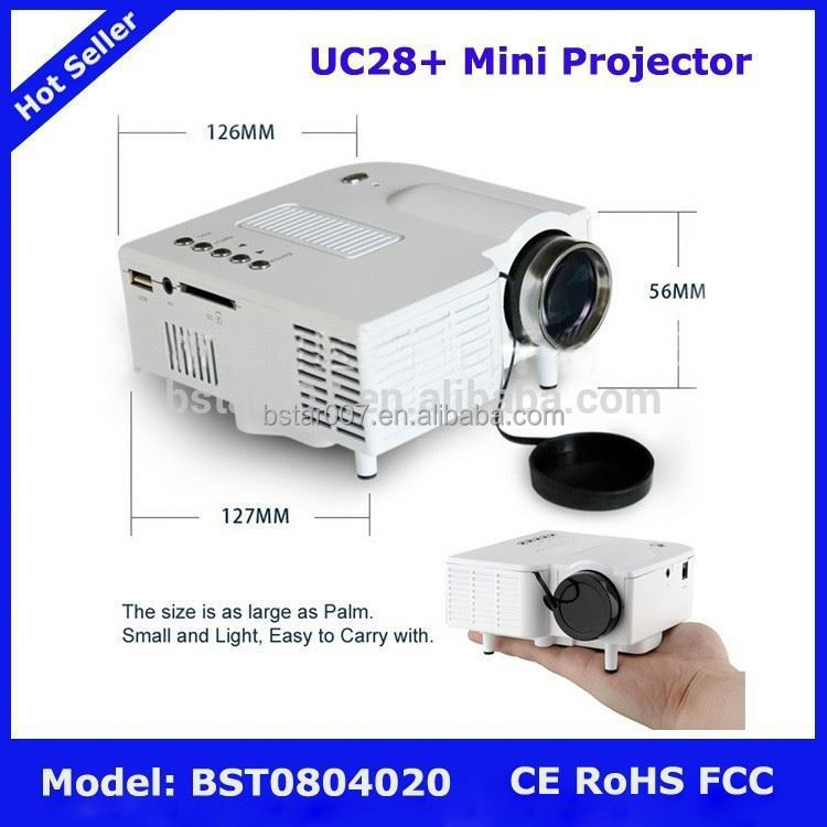 Uc28 mini projector 1080p business gift projector for Best pocket projector for business