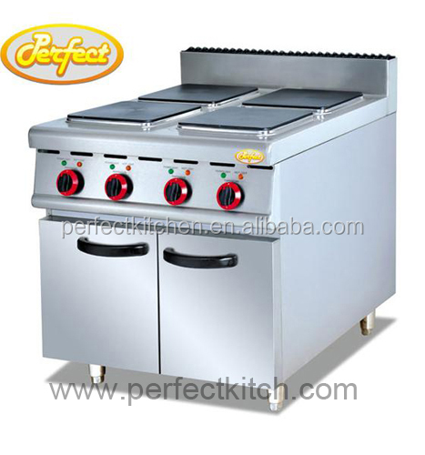 Electric hot plate electric range with 6 square hot plates for Perfect kitchen equipment