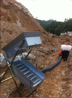 Dry Washer metal detector for gold find in desert no water