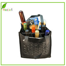 customized 6 bottle nonwoven wine carrier bag