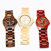 Eco friendly natural custom logo red wood watch
