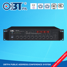 3 Mics input multiplex pre mixer and power amplifier for voic evacuation system