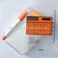 Pocket notebook calculator with pen, ruler/ HLD-818