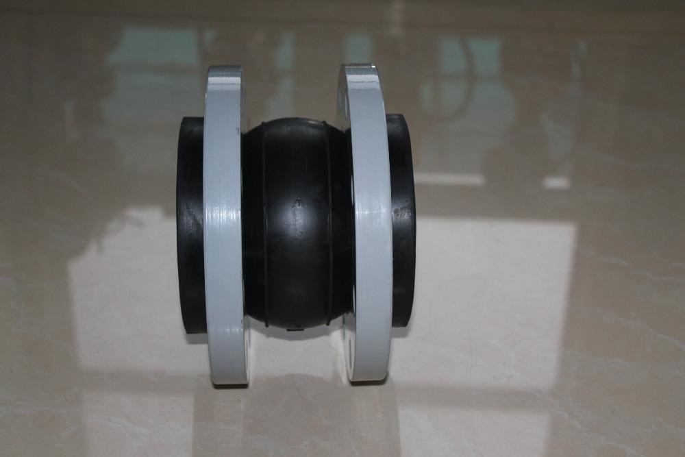 Single sphere flexible rubber joint