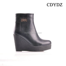 CDYDZ K1320-A72620 High-heeled black soft dough thick crust side zipper Women Boots shoes for dress 2015 fashion factory china