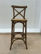 Australian Dining chair stool Specific Use and Dining Room Furniture Type High Quality rattan wooden dining X Cross Back Chair