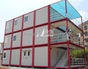 Сборные караван дом, современный 2 история 20ft сборные живет дом контейнера, офис дом контейнера