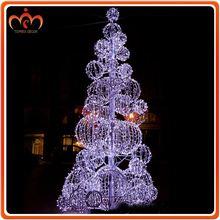Giant Outdoor led Ball tree elegant christmas decorations