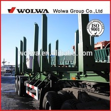 cheap tri-axle atv timber trailer for transporting log /wood/ timber