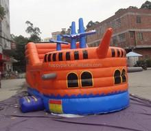 Factory direct sale sea rover bouncy castle/pirate ship bouncy castle