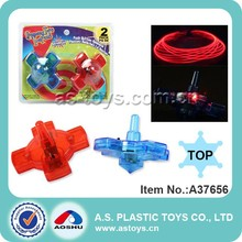 Mini plastic spinning top toys with light
