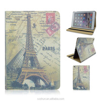 Retro Paris Eiffel Tower Design PU Leather Flip Stand Tablet Covers Case For iPad Air 2 For iPad 6 From Factory